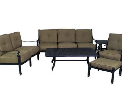 Basso Collection Deep Seating Sofa, Loveseat, Club Chair & Table Set