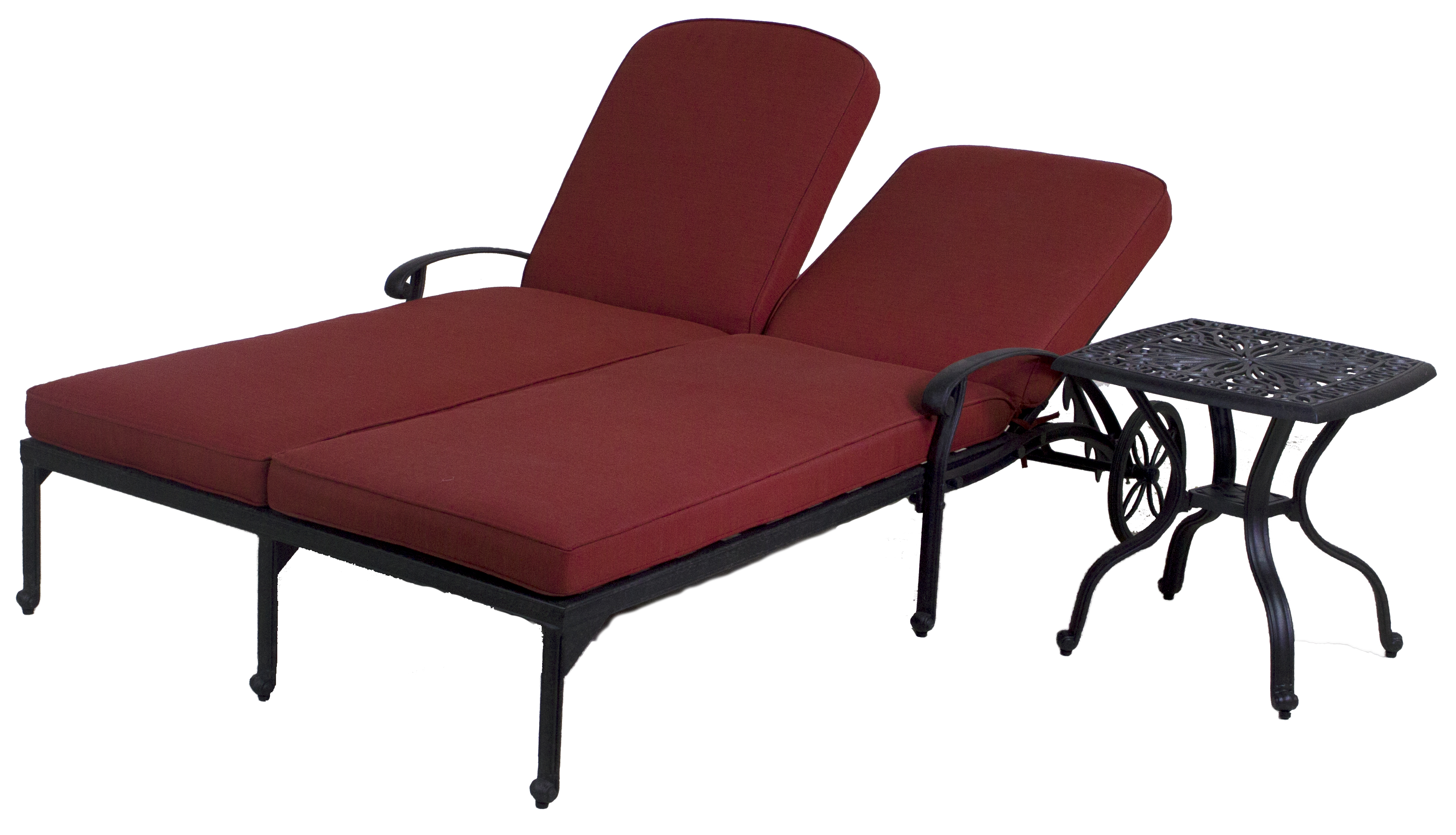 best of backyard catalina double chaise lounge chair end table