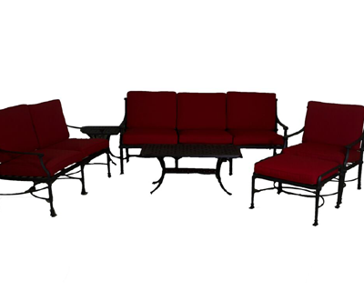 Dynasty Collection Loveseat, Sofa, Club Chair, Ottoman, Square Table, & End Table