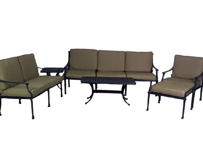 Florence Collection Deep Seating Loveseat, Sofa, Club Chair, Ottoman, Coffee Table & End Table