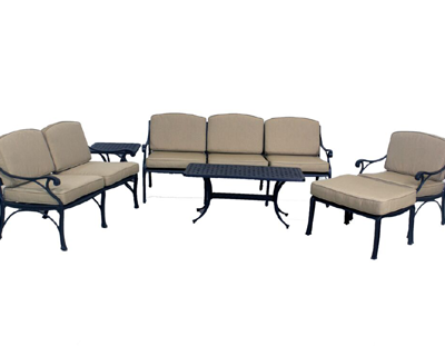 Le Terrace Collection Loveseat, Sofa, Club Chair, Ottoman, Small Coffee Table, & Small End Table