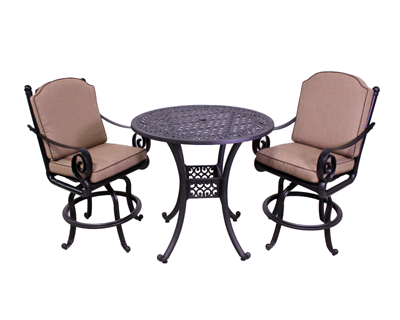 Wynn Collection 2 Barstools and 42″ Round Bar Height Table