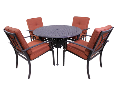 Venice Collection 4 Dining Chairs and Le Terrace 42″ Round Table