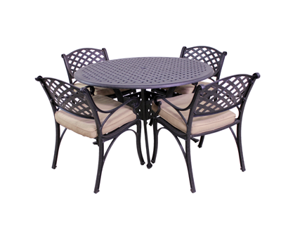 Le Terrace 4 Dining Chairs and Le Terrace 42″ Round Table