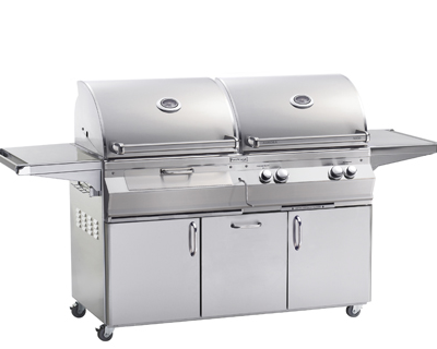 Fire Magic – Aurora A830S Charcoal & Gas Combo Portable Grill