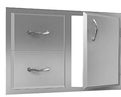 00 agape double drawer door combo