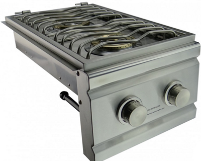 00 built in double side burner