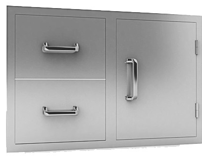 00 double drawer and door combo
