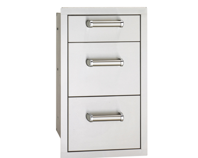 flush triple enclosed drawer