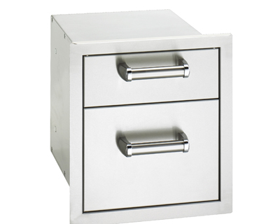 flush double enclosed drawer