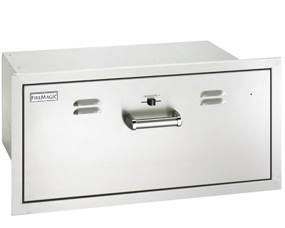 flush electric warming drawer